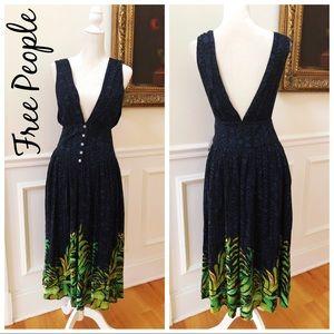 BNWT FREE PEOPLE Sleeveless V-Neck Midi Dress 0